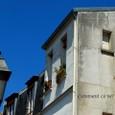 住宅街の青い空